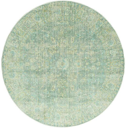 Maharani - Vihreä Matto Ø 200 Moderni Pyöreä Pastellinvihreä ( Turkki)