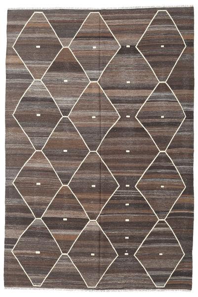 Kelim Ariana Matto 203X305 Moderni Käsinkudottu Vaaleanruskea/Tummanruskea/Vaaleanharmaa (Villa, Afganistan)