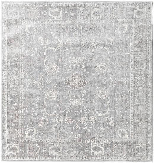 Maharani - Harmaa Matto 150X150 Moderni Neliö Vaaleanharmaa ( Turkki)