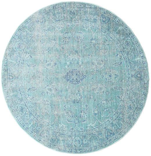 Maharani - Sininen Matto Ø 150 Moderni Pyöreä Vaaleansininen/Siniturkoosi ( Turkki)