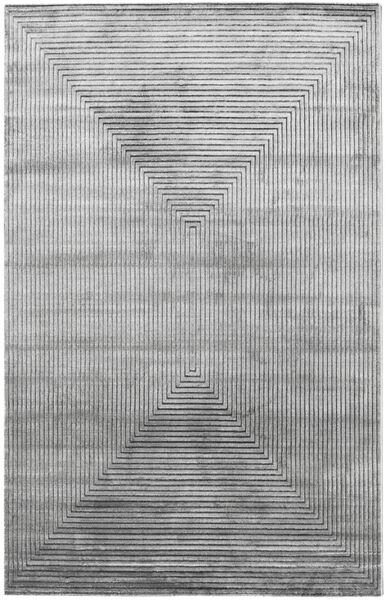 Illusion - Harmaa Matto 400X500 Moderni Vaaleanharmaa/Tummanharmaa Isot ( Turkki)