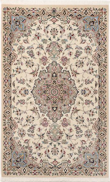 Nain 9La Sherkat Farsh Matto 90X145 Itämainen Käsinsolmittu Vaaleanharmaa/Beige (Villa/Silkki, Persia/Iran)