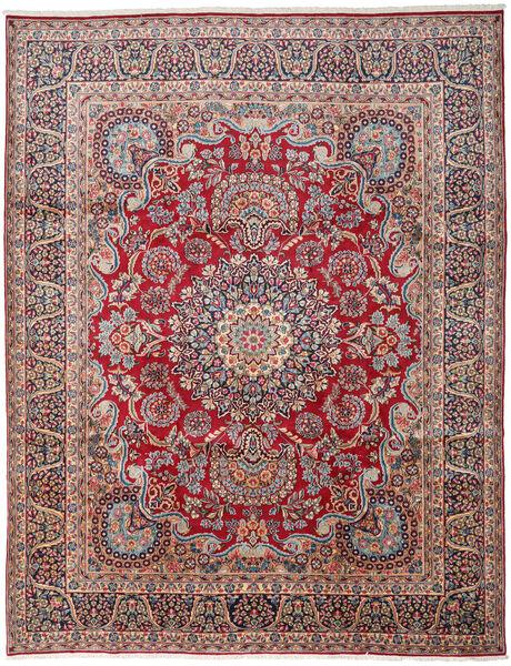 Kerman Matto 303X391 Itämainen Käsinsolmittu Tummanharmaa/Tummanpunainen Isot (Villa, Persia/Iran)