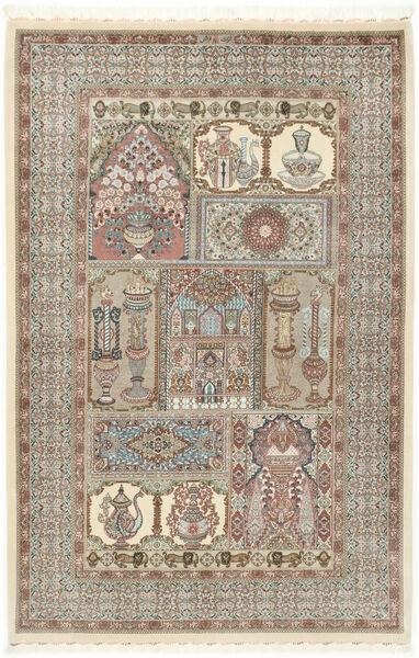 Ilam Sherkat Farsh Silkki Matto 148X223 Itämainen Käsinsolmittu Vaaleanharmaa/Beige (Villa/Silkki, Persia/Iran)