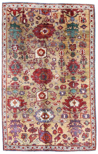 Sari 100% Silkki Matto 171X271 Moderni Käsinsolmittu Tummanpunainen/Beige (Silkki, Intia)