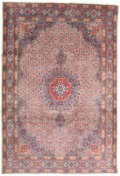 Moud Matto 210X310 Itämainen Käsinsolmittu Vaaleanharmaa/Vaaleanvioletti (Villa/Silkki, Persia/Iran)