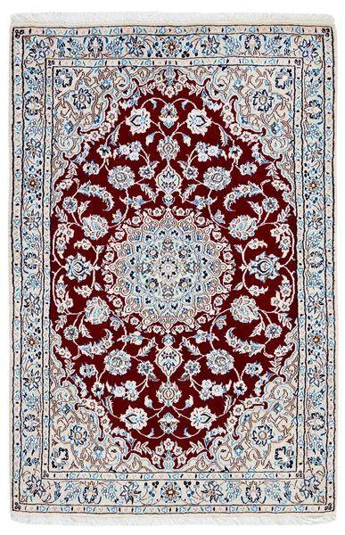 Nain 9La Matto 95X146 Itämainen Käsinsolmittu Vaaleanharmaa/Beige (Villa/Silkki, Persia/Iran)