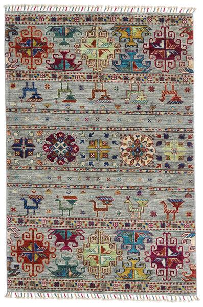 Shabargan Matto 100X150 Moderni Käsinsolmittu Vaaleanharmaa/Tummanruskea (Villa, Afganistan)