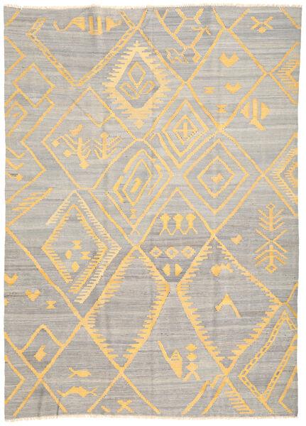 Kelim Ariana Matto 208X287 Moderni Käsinkudottu Vaaleanharmaa/Keltainen (Villa, Afganistan)
