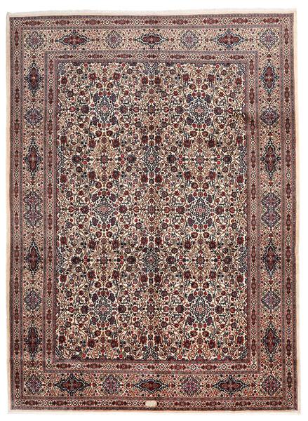 Moud Matto 299X409 Itämainen Käsinsolmittu Tummanruskea/Tummanpunainen Isot (Villa/Silkki, Persia/Iran)
