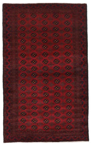 Beluch Matto 127X211 Itämainen Käsinsolmittu Tummanpunainen/Tummanruskea (Villa, Afganistan)