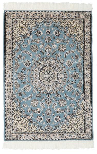 Nain 9La Matto 80X117 Itämainen Käsinsolmittu Musta/Vaaleanharmaa (Villa/Silkki, Persia/Iran)