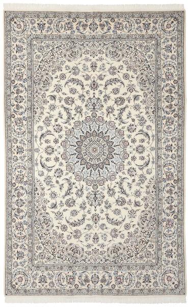 Nain 9La Matto 208X327 Itämainen Käsinsolmittu Tummanharmaa/Vaaleanharmaa (Villa/Silkki, Persia/Iran)