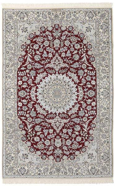 Nain 9La Matto 160X250 Itämainen Käsinsolmittu Tummanharmaa/Musta/Vaaleanharmaa (Villa/Silkki, Persia/Iran)