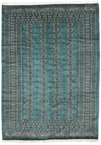 Pakistan Bokhara 2Ply Matto 189X262 Itämainen Käsinsolmittu Tumma Turkoosi/Musta (Villa, Pakistan)