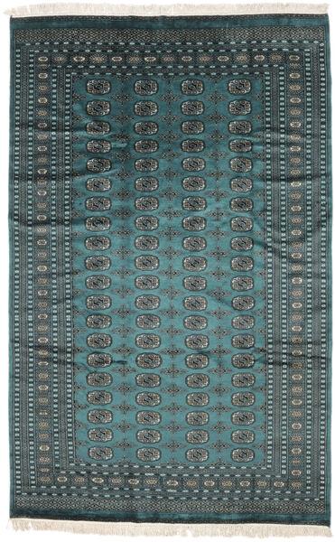 Pakistan Bokhara 2Ply Matto 180X284 Itämainen Käsinsolmittu Musta/Tumma Turkoosi (Villa, Pakistan)