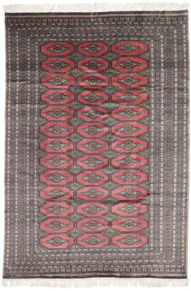 Pakistan Bokhara 3Ply Matto 186X267 Itämainen Käsinsolmittu Musta/Tummanpunainen (Villa, Pakistan)