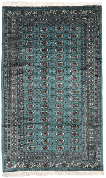 Pakistan Bokhara 2Ply Matto 151X249 Itämainen Käsinsolmittu Musta/Tumma Turkoosi (Villa, Pakistan)