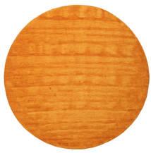 Handloom - Oranssi Matto Ø 300 Moderni Pyöreä Keltainen/Oranssi/Vaaleanruskea Isot (Villa, Intia)
