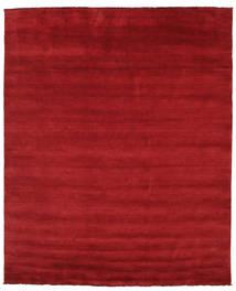 Handloom Fringes - Tummanpunainen Matto 250X300 Moderni Punainen Isot (Villa, Intia)