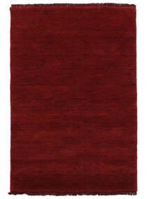 Handloom Fringes - Tummanpunainen Matto 200X300 Moderni Punainen (Villa, Intia)