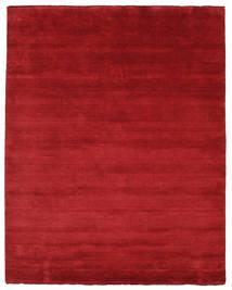 Handloom Fringes - Tummanpunainen Matto 200X250 Moderni Punainen (Villa, Intia)