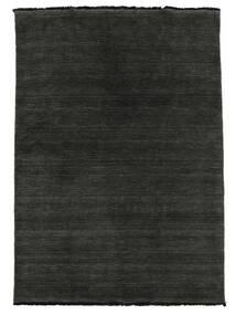 Handloom Fringes - Musta/Harmaa Matto 160X230 Moderni Musta/Tummanharmaa (Villa, Intia)