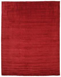 Handloom Fringes - Tummanpunainen Matto 300X400 Moderni Punainen Isot (Villa, Intia)