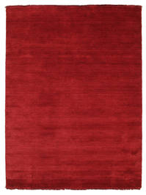 Handloom Fringes - Tummanpunainen Matto 140X200 Moderni Punainen (Villa, Intia)