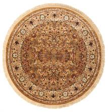 Kerman Diba - Ruskea Matto Ø 250 Moderni Pyöreä Ruskea/Vaaleanruskea Isot ( Turkki)