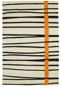 Gummi Twist Handtufted - Oranssi Matto 200X300 Moderni Tummanbeige/Musta (Villa, Intia)