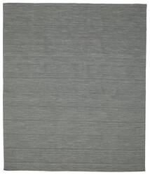 Kelim Loom - Tummanharmaa Matto 250X300 Moderni Käsinkudottu Tummanvihreä/Vaaleanharmaa Isot (Villa, Intia)