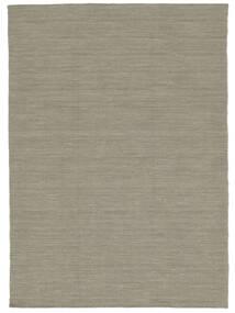 Kelim Loom - Vaaleanharmaa/Beige Matto 160X230 Moderni Käsinkudottu Vaaleanharmaa (Villa, Intia)