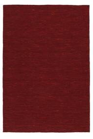 Kelim Loom - Tummanpunainen Matto 140X200 Moderni Käsinkudottu Punainen (Villa, Intia)