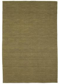 Kelim Loom - Oliivin Matto 200X300 Moderni Käsinkudottu Oliivinvihreä (Villa, Intia)