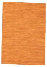 Kelim Loom - Oranssi Matto 140X200 Moderni Käsinkudottu Oranssi (Villa, Intia)