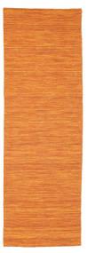Kelim Loom - Oranssi Matto 80X250 Moderni Käsinkudottu Käytävämatto Oranssi (Villa, Intia)