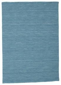 Kelim Loom - Sininen Matto 140X200 Moderni Käsinkudottu Siniturkoosi/Sininen (Villa, Intia)