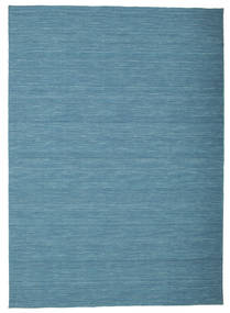 Kelim Loom - Sininen Matto 160X230 Moderni Käsinkudottu Siniturkoosi/Sininen (Villa, Intia)