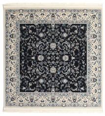 Nain Florentine - Tummansininen Matto 150X150 Itämainen Neliö Tummanharmaa/Beige ( Turkki)