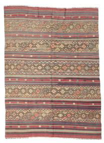 Kelim Semiantiikki Turkki Matto 176X240 Itämainen Käsinkudottu Ruskea/Tummanruskea (Villa, Turkki)
