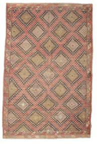 Kelim Semiantiikki Turkki Matto 191X293 Itämainen Käsinkudottu Vaaleanruskea/Ruskea (Villa, Turkki)