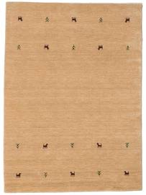 Gabbeh Loom Two Lines - Beige Matto 140X200 Moderni Keltainen/Tummanbeige (Villa, Intia)