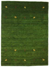 Gabbeh Loom Two Lines - Vihreä Matto 140X200 Moderni Tummanvihreä (Villa, Intia)