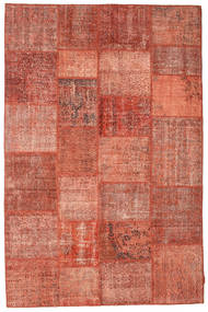 Patchwork Matto 198X302 Moderni Käsinsolmittu Punainen/Tummanpunainen (Villa, Turkki)