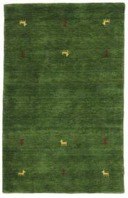 Gabbeh Loom Two Lines - Vihreä Matto 100X160 Moderni Tummanvihreä (Villa, Intia)