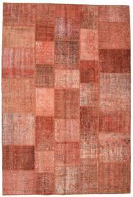 Patchwork Matto 201X300 Moderni Käsinsolmittu Punainen/Tummanpunainen (Villa, Turkki)