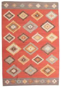Kelim Denizli Matto 190X290 Moderni Käsinkudottu Punainen/Ruoste (Villa, Intia)