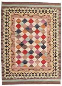 Kelim Caspian Matto 140X200 Moderni Käsinkudottu Vaaleanruskea/Tummanpunainen (Villa, Intia)