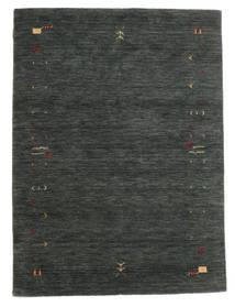 Gabbeh Loom Frame - Tummanharmaa/Vihreä Matto 140X200 Moderni Tummanvihreä/Tummanvihreä (Villa, Intia)
